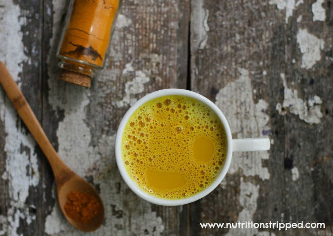 Learn how to make your own organic golden milk. AIP, Vegan, and Paleo friendly options.