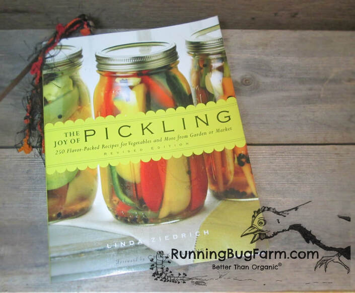 Book review by an Eco-Farmer on The Joy of Pickling by Linda Ziedrich.