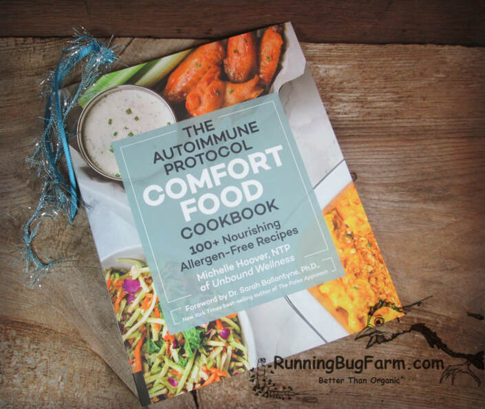 Review of 'The Autoimmune Protocol Comfort Food Cookbook' from an Eco farmer who has Endometriosis.
